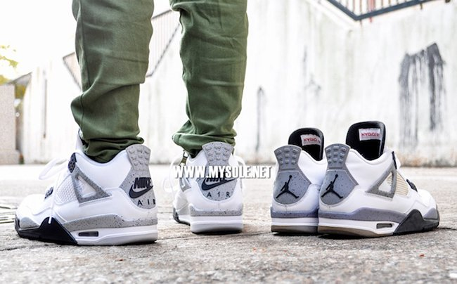 Air Jordan 4 White Cement 2016 On Feet