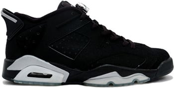 Air Jordan 6 Low Black Silver 2002 Release Date