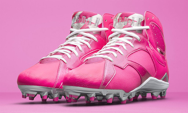 Air Jordan 7 Cleats Breast Cancer Awareness