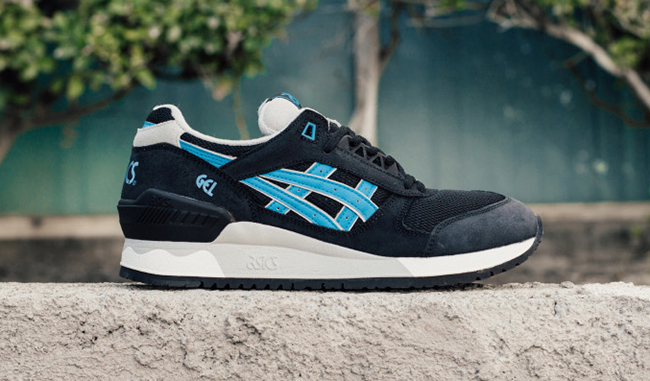 Asics Gel Respector Black Atomic Blue