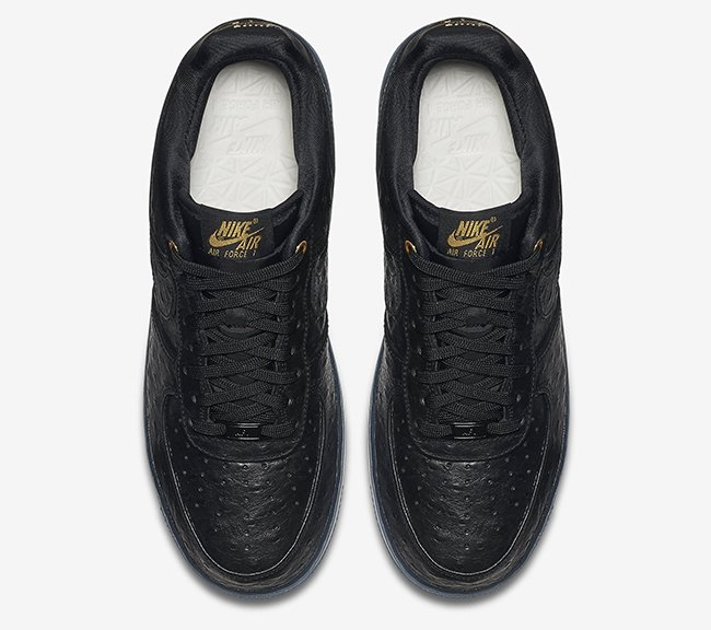 Black Ostrich Nike Air Force 1 CMFT Lux Low