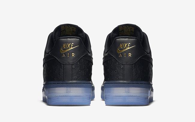Black Ostrich Nike Air Force 1 CMFT Lux Low