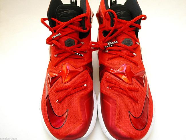 550bb3bf269ed Nike LeBron 13 Away University Red White Black Laser Orange