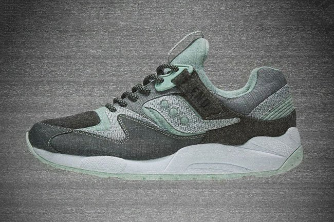 END Saucony Grid 9000 White Noise Release Date