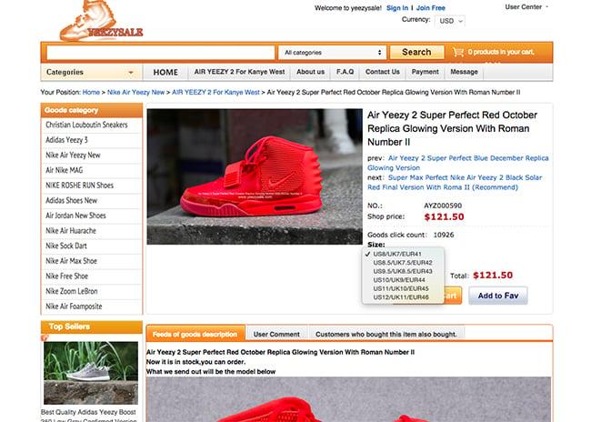 Fake Sneaker Sizing