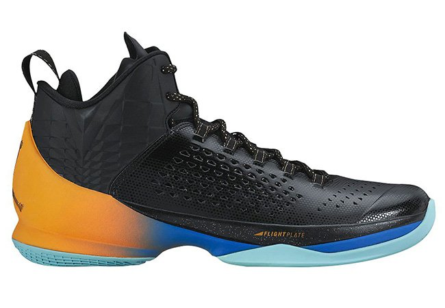 ec3090a6672fc3 Jordan Melo M11 Black Gold Orange Blue
