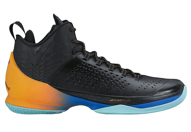 Jordan Melo M11 Black Gold Orange Blue