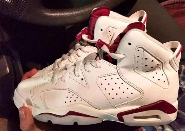 Kids Air Jordan 6 Maroon 2015