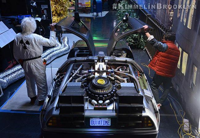 Michael J Fox Nike Mag Power Laces Jimmy Kimmel
