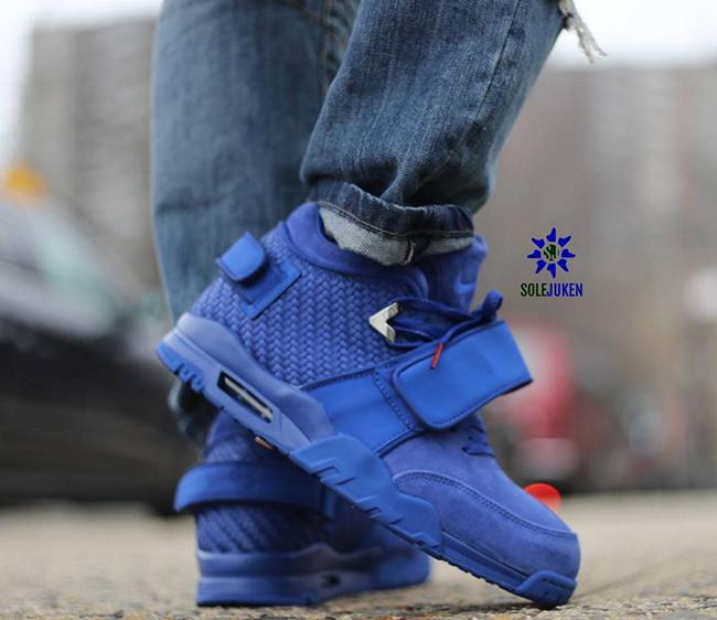 Nike Air Cruz Rush Blue On Feet