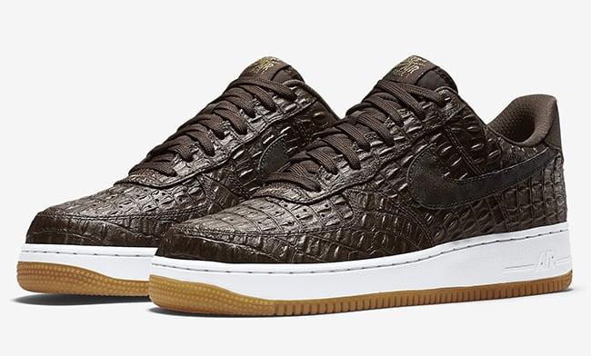 Nike Air Force 1 Low Crocodile Basketball Leather Sneaker