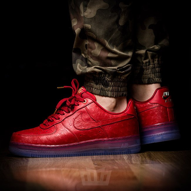 Nike Air Force 1 Low CMFT Lux Red Ostrich lovely