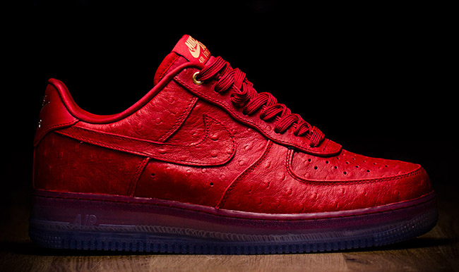 Nike Air Force 1 Faible Cmft Lux Therion Dautruche Rouge