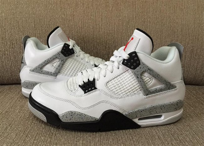 Nike Air Jordan 4 OG Release White Cement
