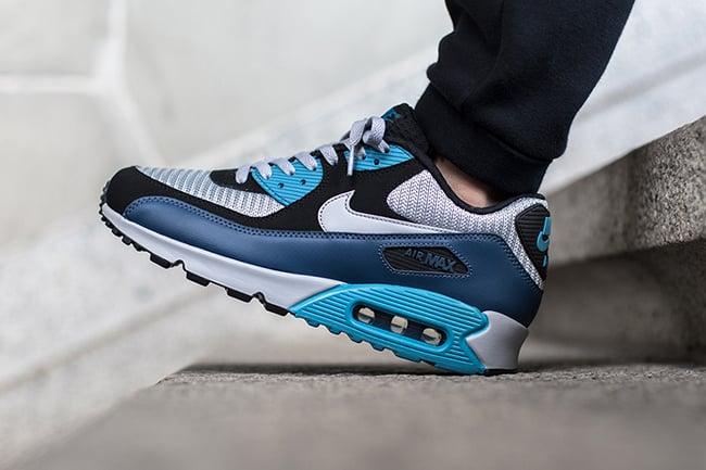 grey and blue air max 90