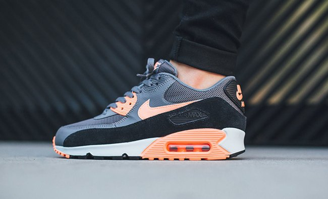nike air max 90 dark grey sunset glow