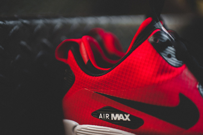 nike air max 90 mid winter red black