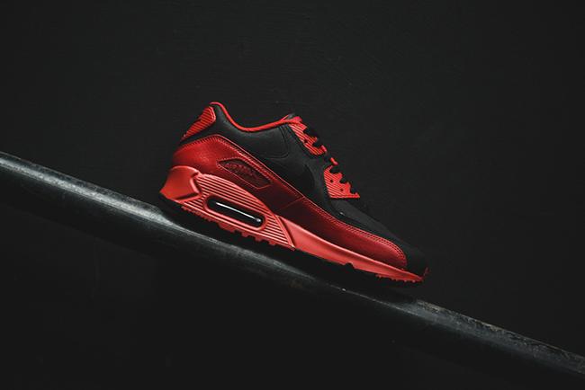 nike air max 90 winter premium gym red/black