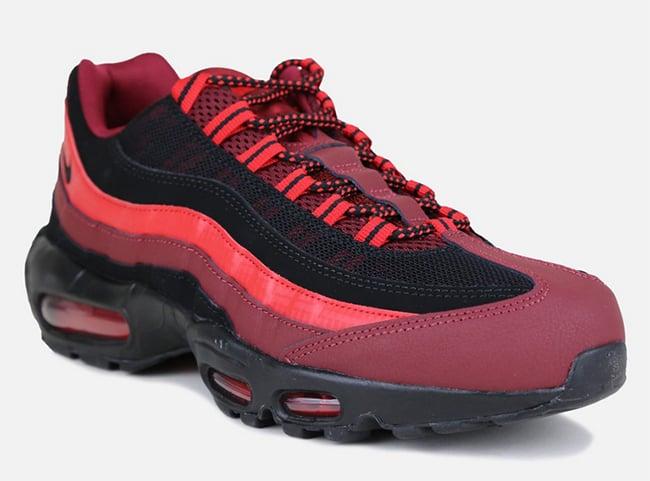 fourniture en vente classique Nike Air Max 95 Noir Et Équipe Couleur Rouge sortie 2014 jeu geniue stockiste b0RtzofII