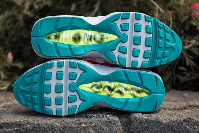 Nike Air Max 95 Solar Red Emerald Volt