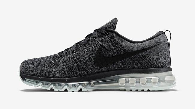 Nike Flyknit Air Max Black Grey