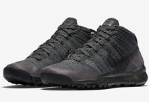 Nike Flyknit Chukka FSB Black Anthracite Waterproof