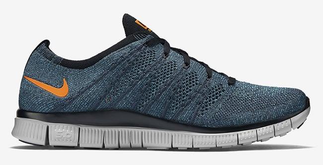 Nike Free Flyknit NSW Squadron Blue Bright Mandarin Chlorine