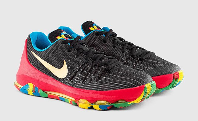 Nike KD 8 GS Black Multicolor