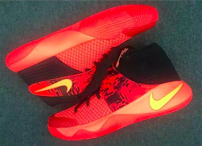 Nike Kyrie 2 Bright Crimson Atomic Orange