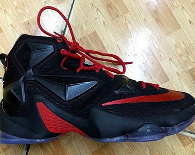 new products 464ff 15d96 Nike LeBron 13 Bred Black Red | SneakerFiles