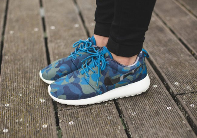 Nike Roshe Run Print Blue Camo