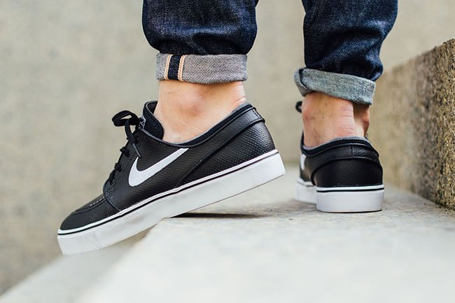 Nike SB Stefan Janoski Leather Black White Grey