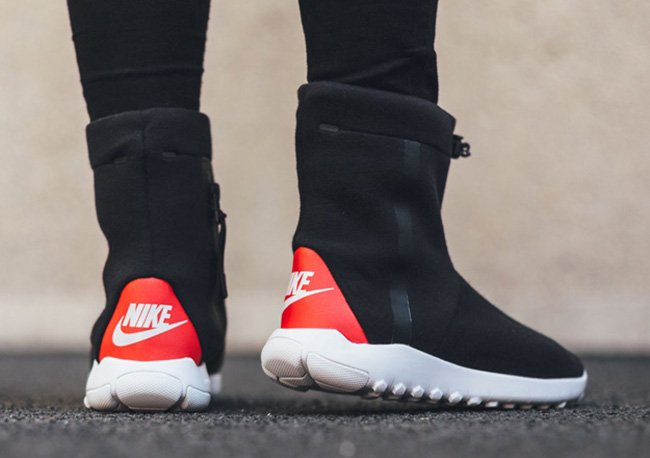Nike Tech Fleece Boot Black White Red Sneakerfiles