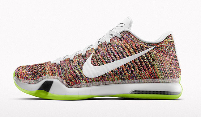 NikeiD Kobe 10 Elite Low Flyknit Multicolor