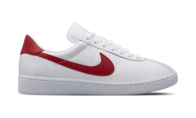 Nike Bruin Shoes With Red Swoosh And Back Tab