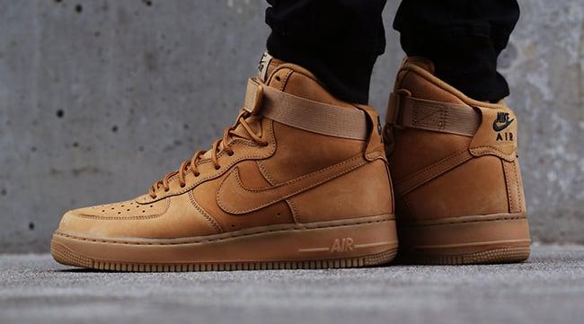 On Feet Nike Air Force 1 Wheat