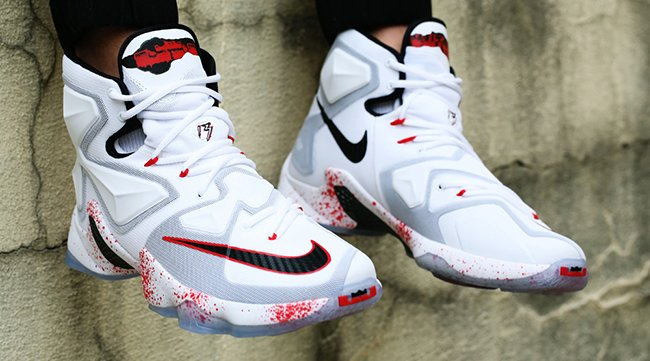 On Feet Nike LeBron 13 Friday the 13th