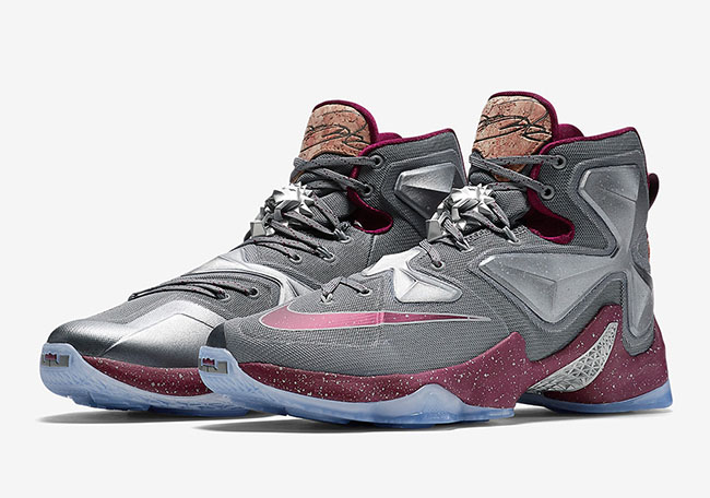 Nike LeBron 13 Navy Blue Metallic Silver
