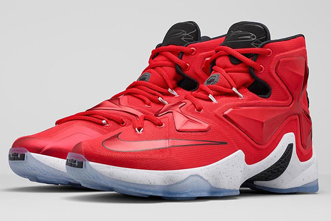 super popular 72d93 10555 Nike LeBron 13 Away Cavs Red On Court | SneakerFiles
