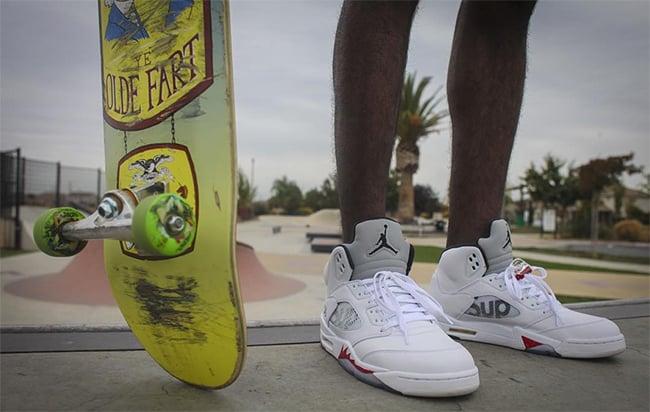 Skated Air Jordan 5 Supreme