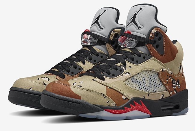 new product 24737 3b982 NikeLab Air Jordan 5 Supreme Camo