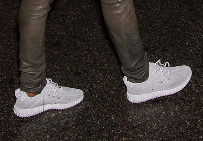 White Silver adidas Yeezy 350 Boost