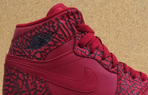Air Jordan 1 Red Elephant Print