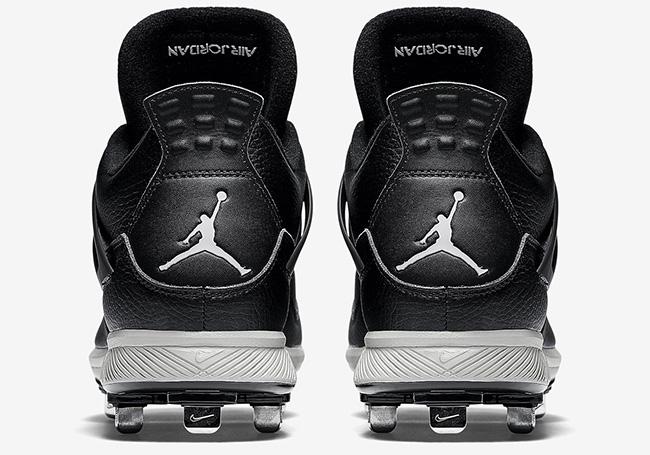 Air Jordan 4 Cleats Black Grey