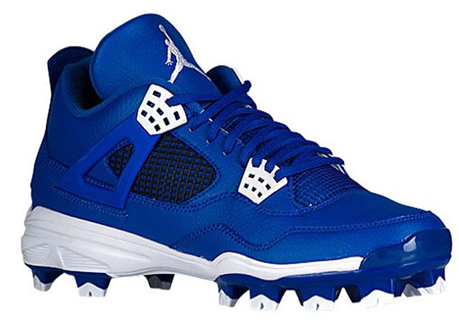 Air Jordan 4 Cleats Royal Blue
