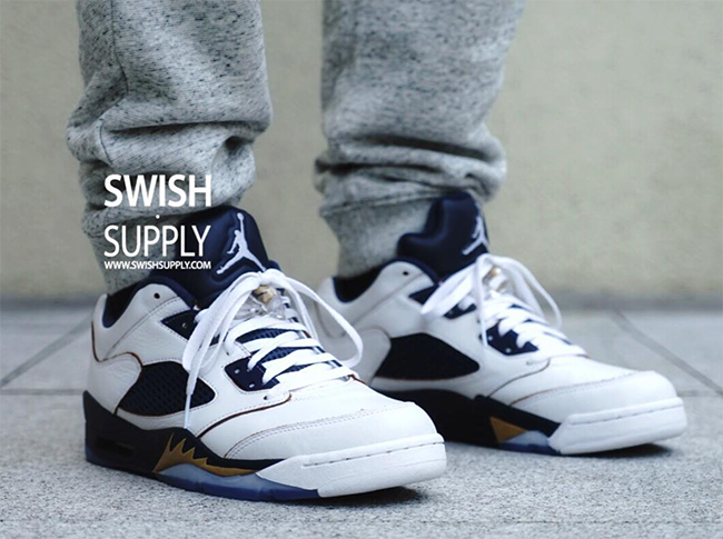 Air Jordan 5 Low Dunk From Above On Feet