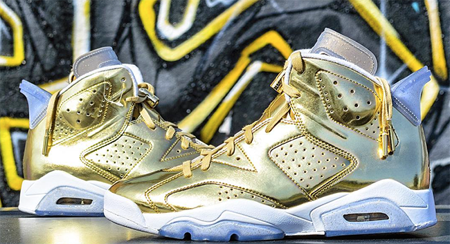 newest 1a0e8 a9d5e Air Jordan 6 Gold Oscars