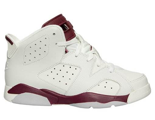 Air Jordan 6 Maroon Preschool