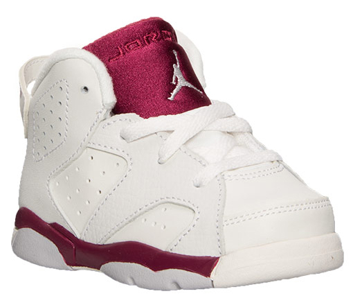 Air Jordan 6 Maroon Toddlers