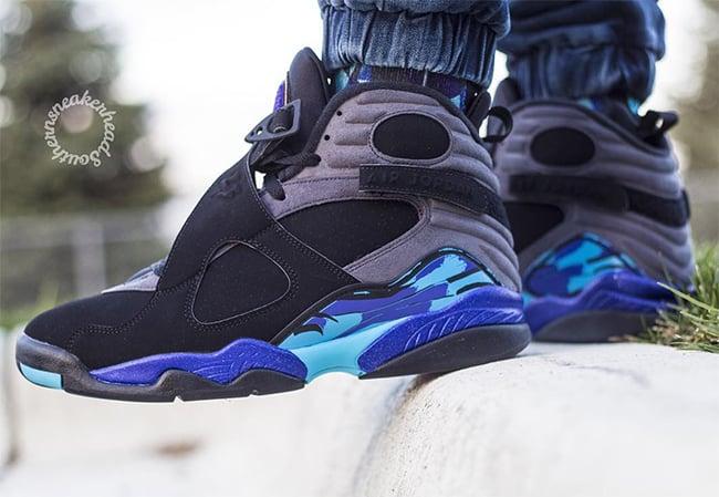 Air Jordan 8 Aqua 2015 On Feet